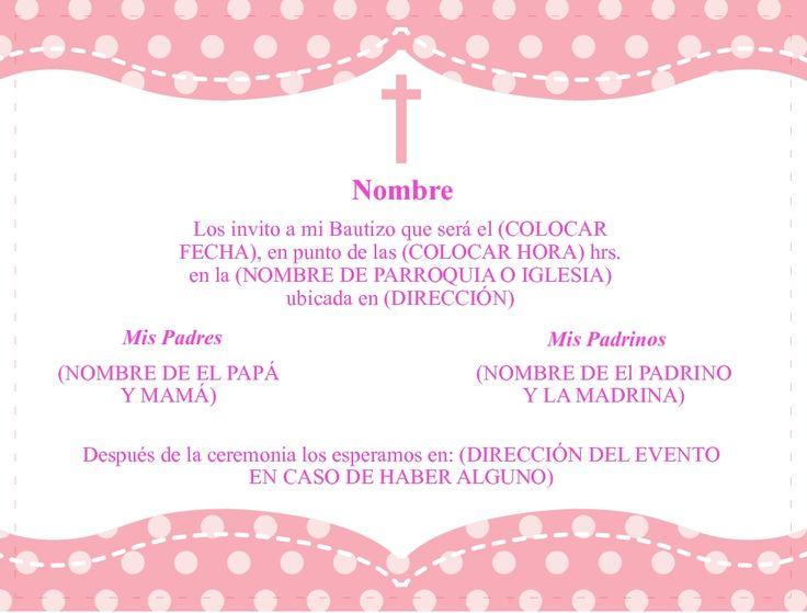 Tarjetas De Invitacion A Bautizo Gratis Para Mandar Por Whatsapp 5 HD Wallpapers