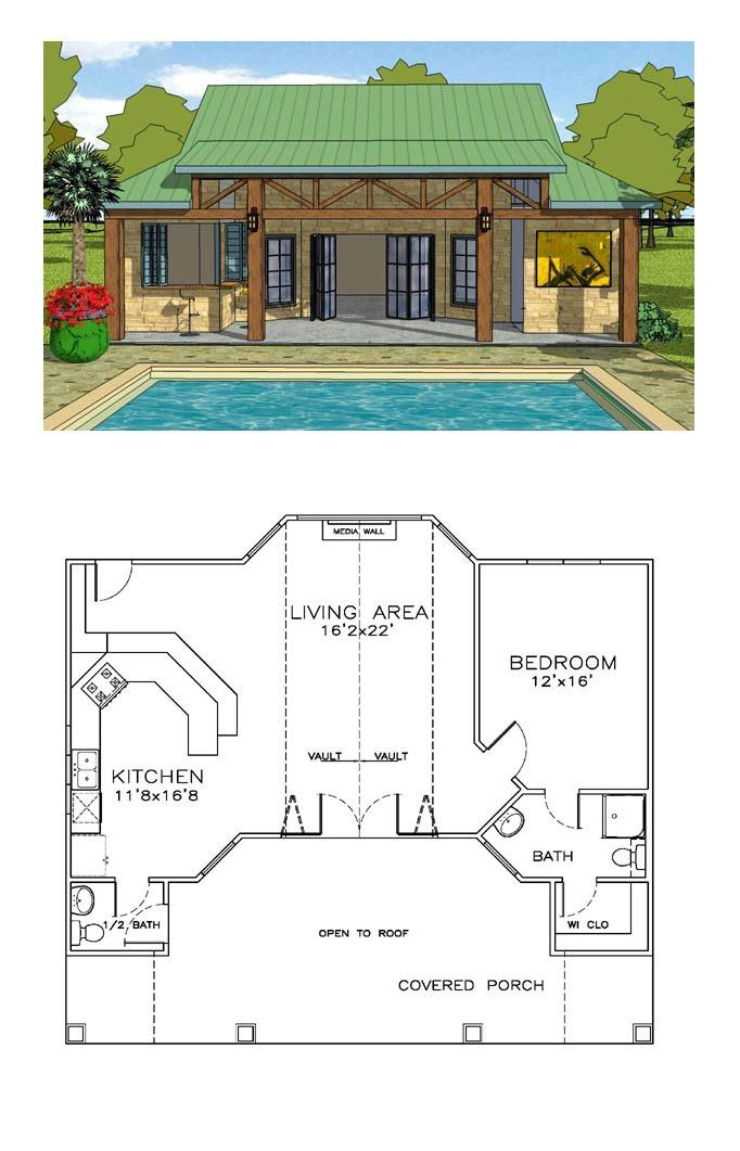Pool House Plans With Living Quarters Trend