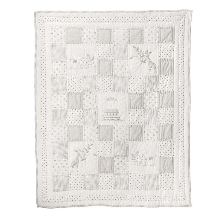 Noah's Ark Cot Bed Quilt   Cushions, Quilts