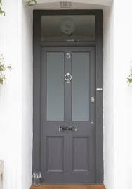 Image result for composite victorian front door with window on top