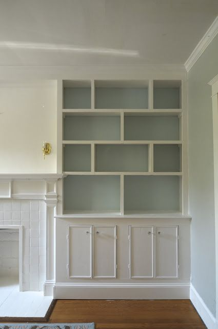 If I ever have to do this again. The different shelving - love it Pawleys Island Posh: built-in bookshelves