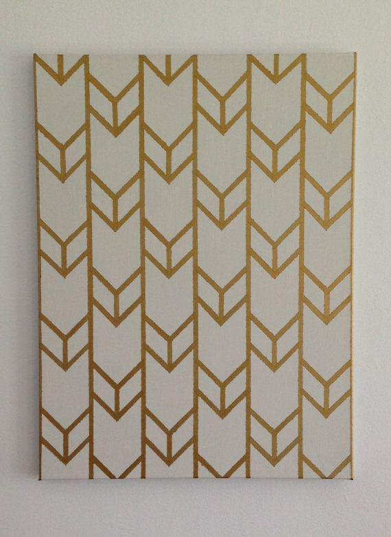 Customizable+HandPainted+Acrylic+Chevron+by+SquirrelsAndStripes,+$30.00