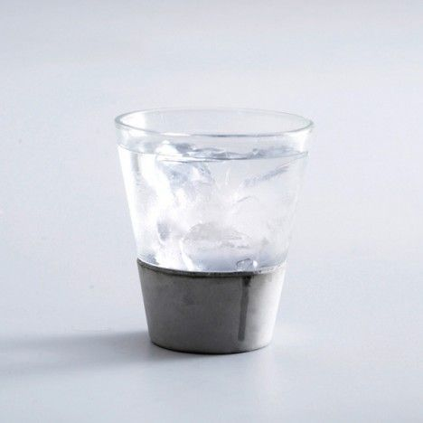 concrete glass.  these are irresistible my sweets.  pour me a stiff one.  xoxo, Kimberly