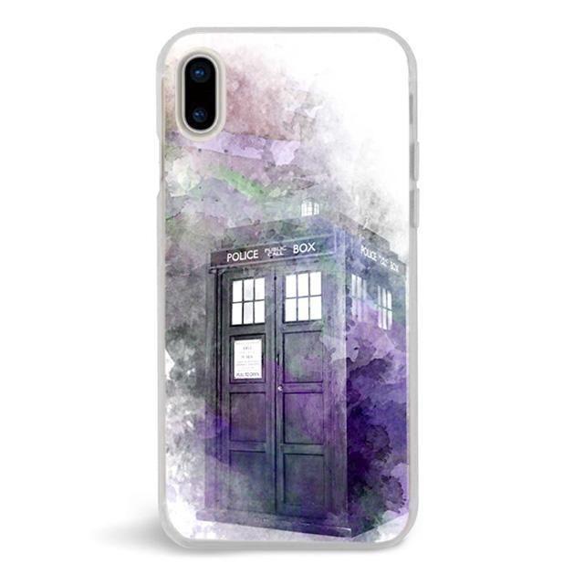 Abstract Art Tardis Police Box,iPhone X Case,Custom iPhone X Case,iPhone X