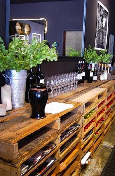 stain crates and perfect!: Wooden Pallet, Wood Pallet, Pallet Ideas, Pallets, Diy, Storage
