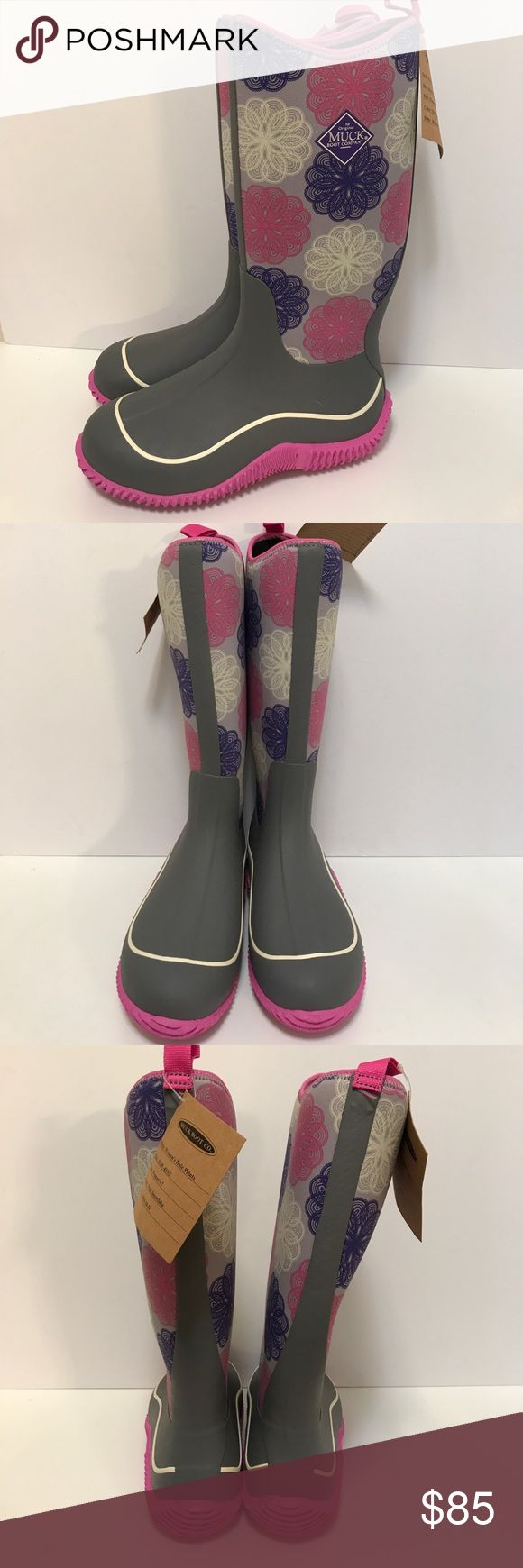 "Muck Boots Hale All Weather Rain Snow Size 7 Brand new, never worn.  Tags still attached.  Total height is 14"" from sole to top of boot.  100% Waterproof.  Fully lined.  A5 muck boots Shoes Winter & Rain Boots"