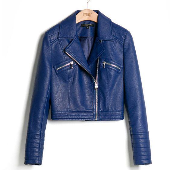 US $33.53 -- куртка кожаная женская  пу кожи замши женские короткие мотоцикл байкер пальто куртки кожаные куртки для женщин купить на AliExpress