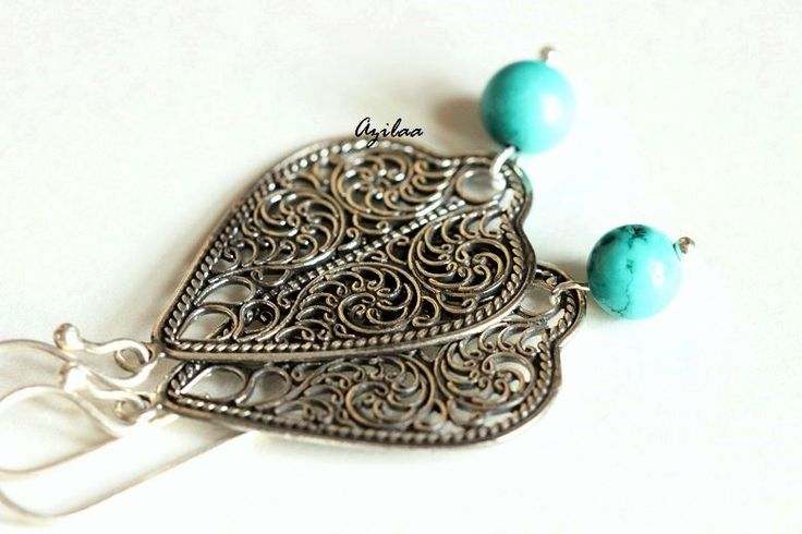 Artisan Modern filigree sterling silver gemstone earrings