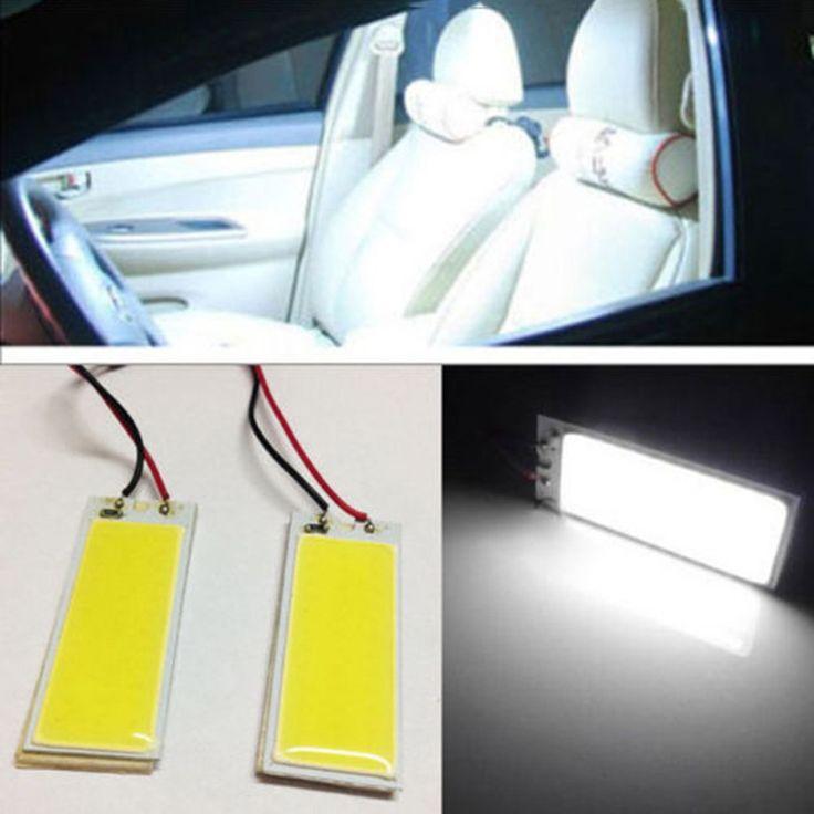 12 V 2 pcs Xenon HID super Blanc 36 COB LED Dôme Carte Ampoule avec T10 Lumière Adaptateur De Voiture Intérieur Panneau Lampe De Voiture-style