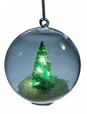 Weihnachtskugeln mit bunter LED-Beleuchtung, 2 Stück
