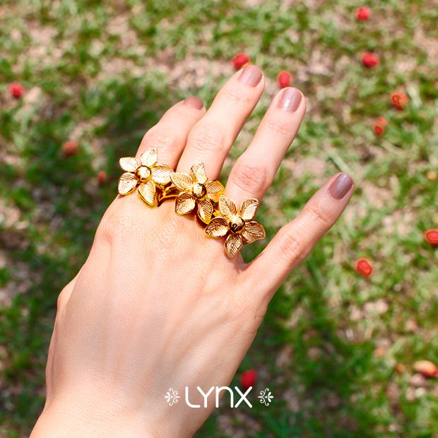 Flower Rings!!!! Nueva Colección, nuevos anillos #Spring #newcollection #springcollection #ILoveLynx #rings #flowers #jewels