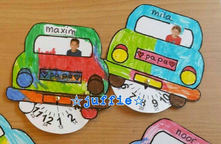 Parkeerschijf voor vaderdag ☆juffie☆