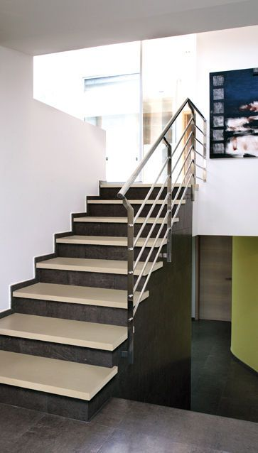 Escalera de obra recta escaleras con pelda os - Escaleras de obra ...