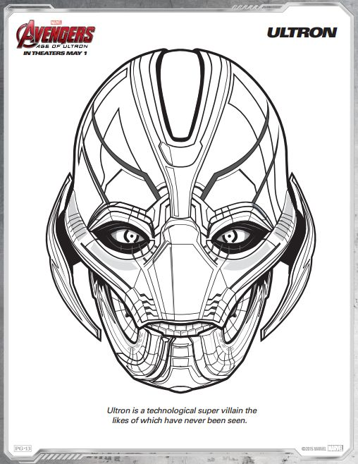 Avengers Age Of Ultron Free Printable Coloring Pages