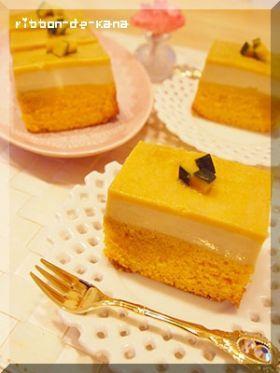 「かぼちゃの2層ケーキ」Kana   お菓子・パンのレシピや作り方【corecle*コレクル】