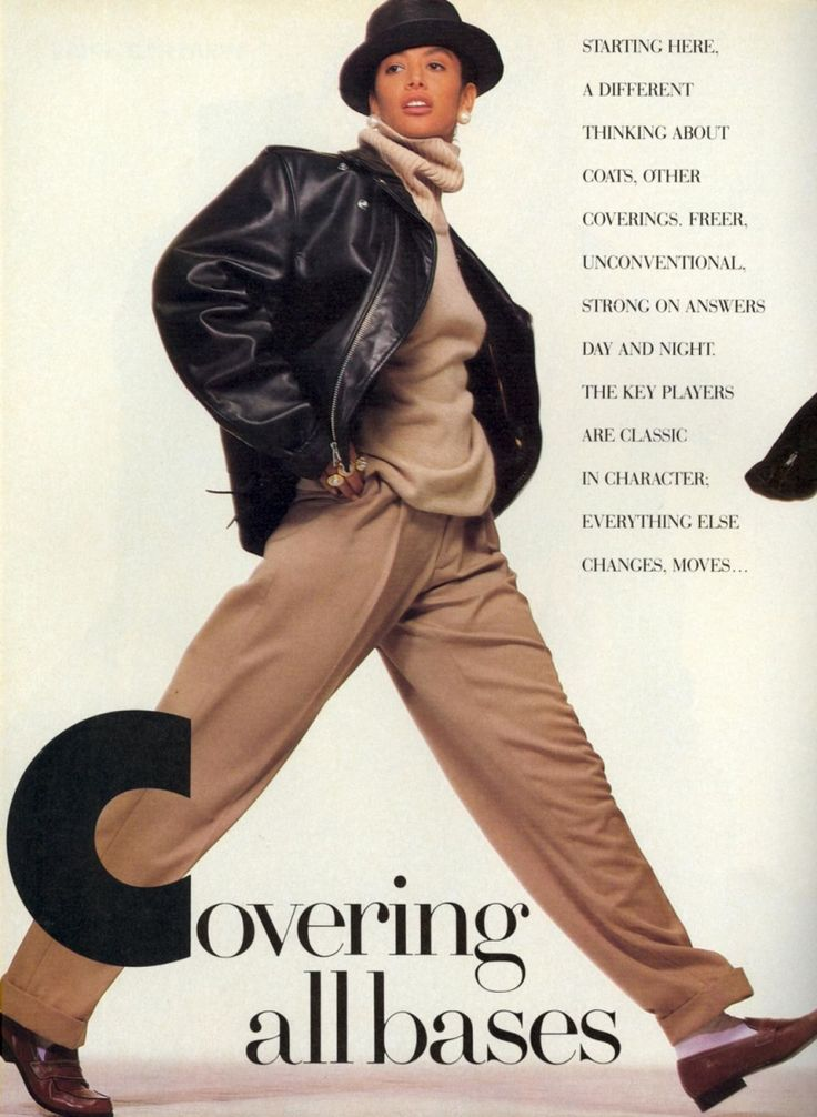 'Covering All Bases' Vogue October 1988, Kara Young