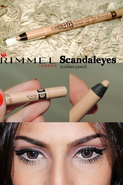 Rimmel Scandaleyes Eyeliner in Nude. Most girls have heard of using white eyeliner on your waterline to make your eyes appear bigger, brighter, and wide awake, but white can look way too harsh. Nude is a great way to give you that same effect without being so noticeable!