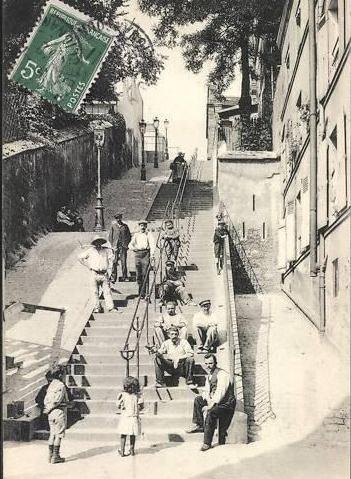 Escaliers de la rue du Calvaire http://www.montmartre-secret.com/