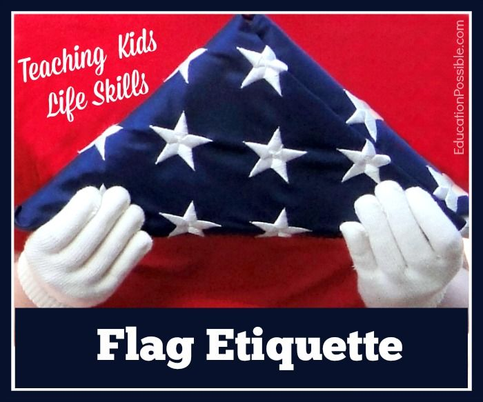 109 best images about homeschool life skills on for Flag etiquette at home