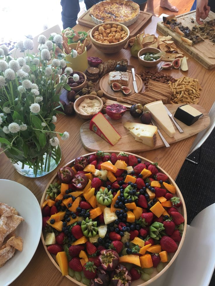 Grazing table at home