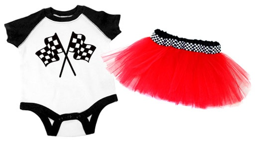 Racer Chick Checkered Flag Tutu Costume. I need this for my grand daughter, her daddy will love it!