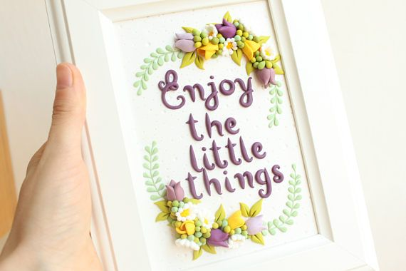 Enjoy the little things home decor gift for her nursery