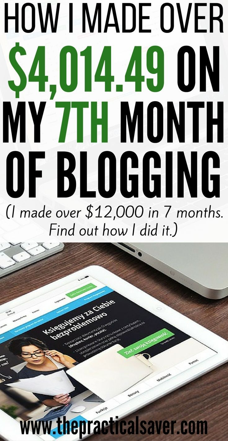 This is what I earned this past month. I have only been blogging for 7 months…