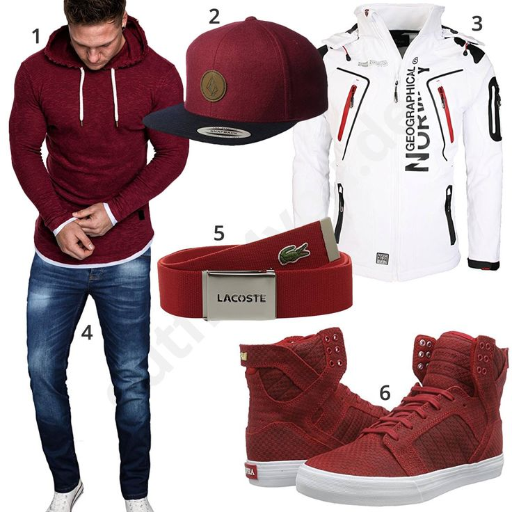 Männeroutfit mit weinrotem Hoodie, Cap und Sneakern (m0922) #cap #sneaker #jacke #hoodie #outfit #style #herrenmode #männermode #fashion #menswear #herren #männer #mode #menstyle #mensfashion #menswear #inspiration #cloth #ootd #herrenoutfit #männeroutfit