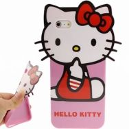 Θήκη iphone 5 & 5S TPU 3D Hello Kitty Style 1