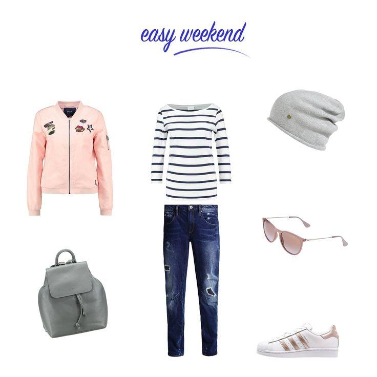 :: CASUAL :: Perfekt für ein entspanntes und lockeres Wochenende - die Boyfriend-Jeans. Kombiniert mit modernen Accessoires und einem Rucksack aus Leder, ist es ein lässiger und doch cooler Look.  #freizeitlooks #casual #destroyedjeans #ringelshirt #rucksack #beanie #sneaker #lookdestages #styledestages #outfitdestages #fashion #mode #urban #boyfriendlook #zalando #zalon #stilberatung