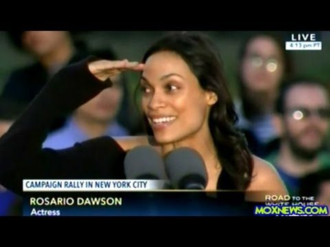 """Never mind how this video has been tagged - it's all about coming together. Thanks, Rosario. // """"SHAME ON YOU HILLARY!"""" ROSARIO DAWSON INTRODUCES BERNIE SANDERS IN THE BRONX NEW YORK - YouTube"""