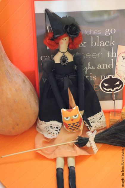 Ведьмочка-очаровашка Анабель - хеллоуин,тильда,ведьмочка,интерьерная кукла