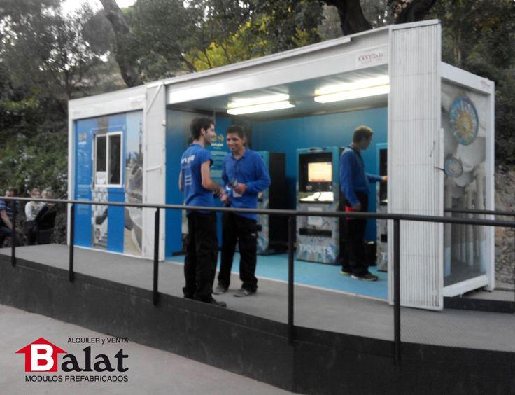 Caseta prefabricada para taquillas en parque g ell - Balat modulos prefabricados ...