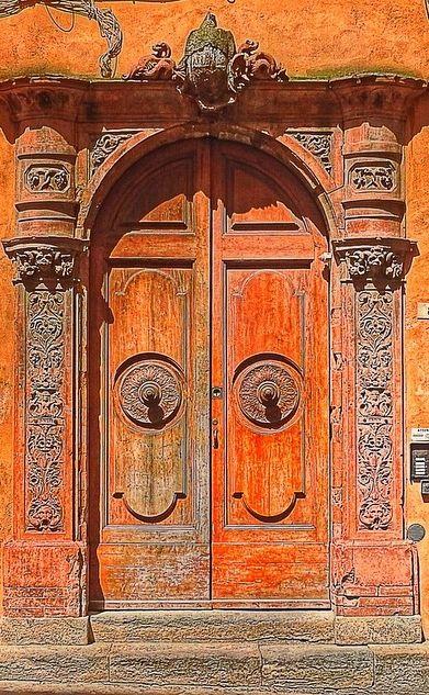 Old door in San Gimignano, Italy.