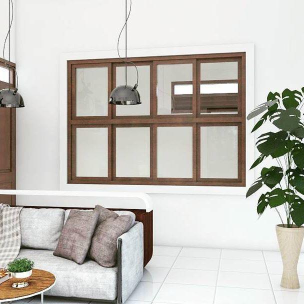 Ruang tamu dan ruang kerja #architecture #interiordesign #design #archilover #livingroom #pontianak #kalbar #vipstudio