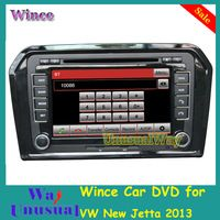 Free Shipping 2015 Top Car Styling Wince Car DVD Player Auto Audio For VW New Jetta 2013 With GPS Navigation Bluetooth Map