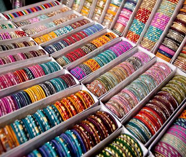 Johari Bazaar, Jaipur, India The loose gems sold here are a great value, but if you're not ready to make the investment, the piles of bangles are fun souvenirs.