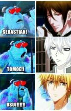 The funny thing is sebby and tomoe are voiced by the same guy