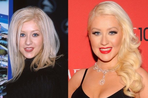 Christina Aguilera - Face plastic surgery - nose and lips