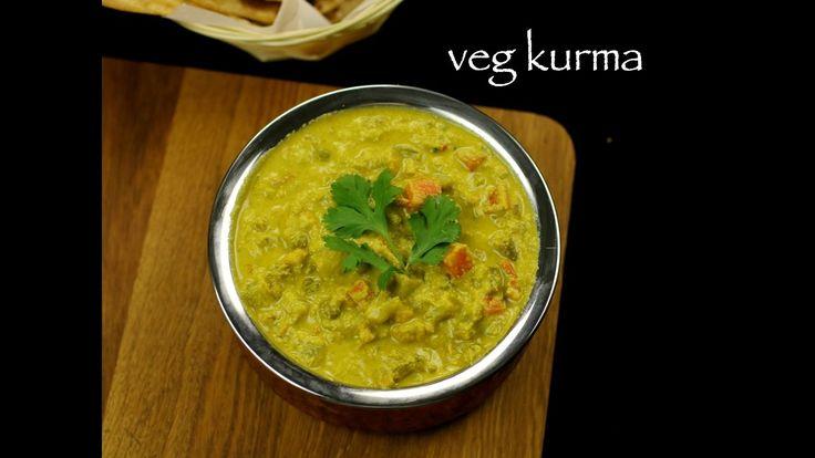 veg kurma recipe,vegetable korma recipe, vegetable kurma recipe with step by step photo recipe. ideal coconut based curry for parotas, ghee rice