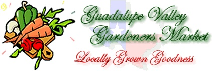 Enjoy local food and have fun while shopping and meeting your friends. Local farmers and gardeners sell a variety of homegrown seasonal produce and agricultural products – organic and non-organic – every Saturday. Guadalupe Valley Gardeners Market. Central Park - 201 S. Austin St.
