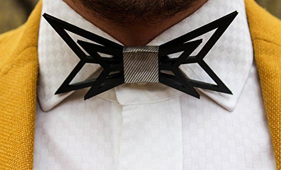 3D butterfly bow tie by ACC- Unique design bowtie for men- Premium quality 3D printed bow tie- Original 3D bowtie for special occasions at Amazon Men's Clothing store:
