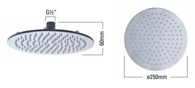 Shop the Roper Rhodes Round 250mm Polished Stainless Steel Shower Head and give your bathroom a sleek, modern look. Now at Victorian Plumbing.co.uk.