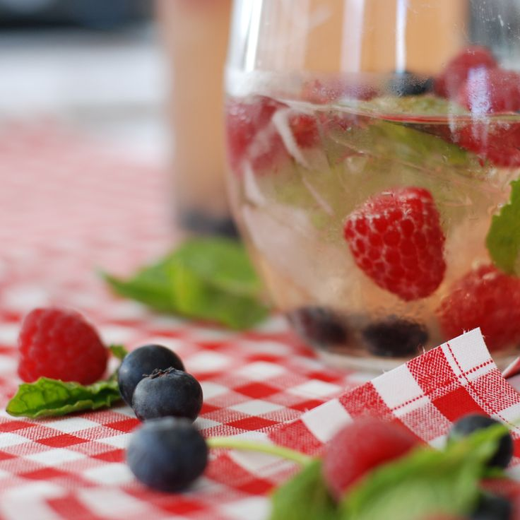 Red, White, and Blue Sparkling Sangria