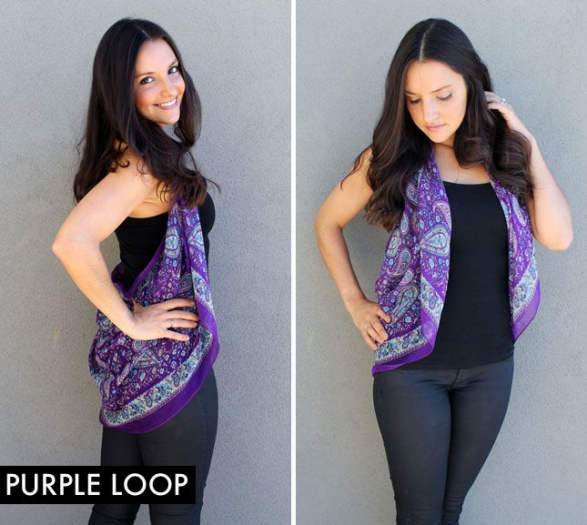 Tie to ends of a scarf together and wear as a vest. Who knew chic could be so easy?