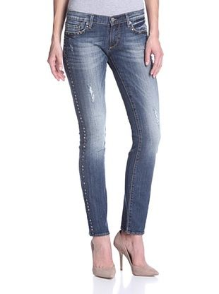 80% OFF Driftwood Women's Jean with Nailhead Detail (Medium Wash)