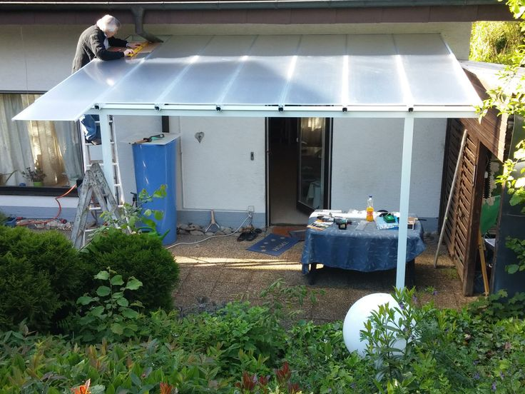 Fresh Terrassendach u Carport Bausatz Typ A xmm WEISS