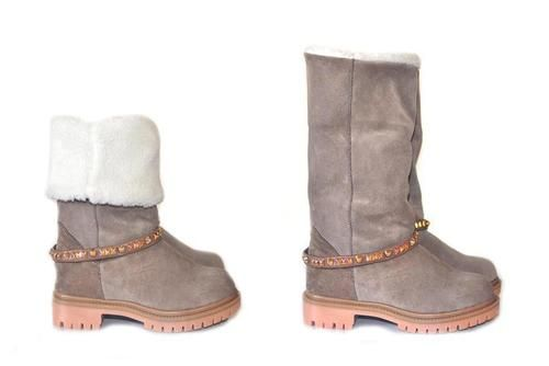 Genuine Leather #Boots with studs KALI shoes