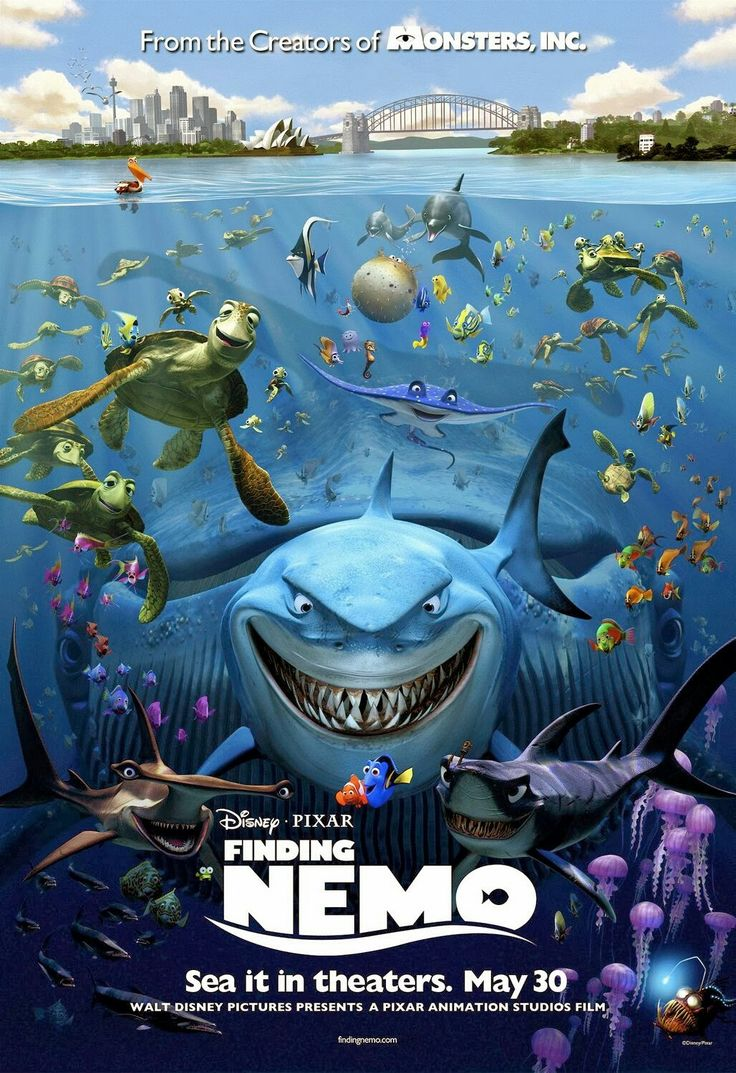 Continuing my look at movie posters and fan art and through the films of pixar animation studios with finding nemo