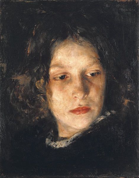 "Alois Erdtelt, ""Head of a girl"", 1851-1911"